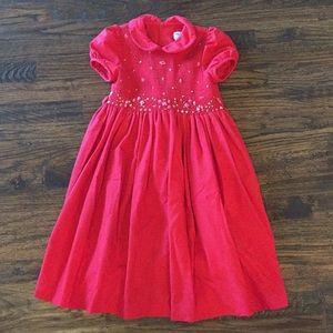 Luli & Me Red Smocked Dress